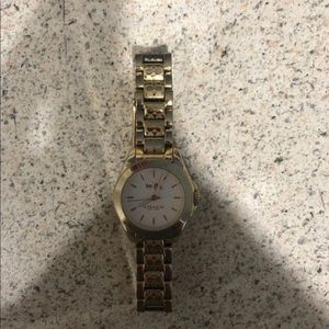 Coach watch and gold bracelet set